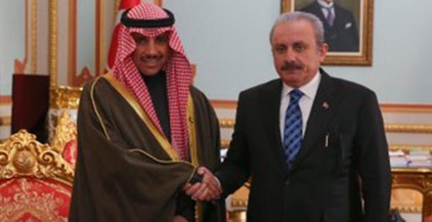TBMM Başkanı Şentop, Kuveyt Ulusal Meclisi Başkanı Al Ghanim İle Görüştü