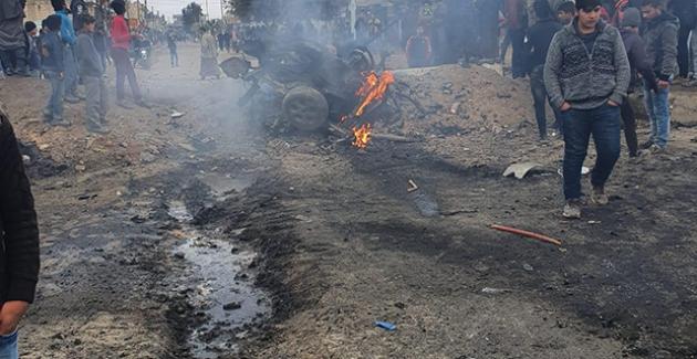"""""""Tel Abyad Saluk Atik Köyünü Hedef Alan Teröristler, Köye Giremeyince Bombalı Aracı Köyün Dışında Patlattı"""""""