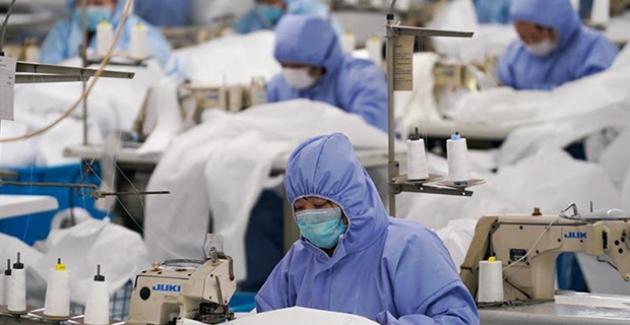 Çin'de Çalışanlar İşbaşı Yapıyor