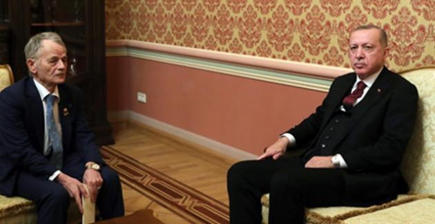 Cumhurbaşkanı Erdoğan, Ukrayna'da Kırım Tatarlarının Lideri Kırımoğlu'nu Kabul Etti