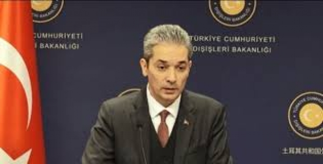 """Dışişleri Bakanlığı Sözcüsü Aksoy, """"Tarihin En Vahim Felaketlerinden Biri Sınırımızda Yaşanmaktadır"""""""