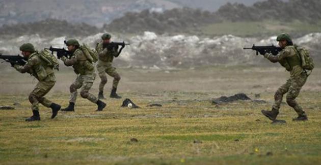 Münbiç Bölgesinden Fırat Kalkanı Bölgesine Sızmaya Çalışan 7 Terörist Etkisiz Hale Getirildi