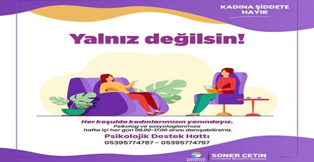 Çukurova Belediyesi'nden Kadınlara Psikolojik Destek