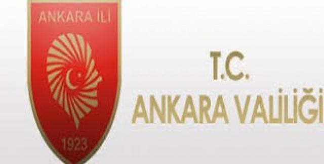 Ankara Valiliği'nden 'Sokağa Çıkma Kısıtlamasına' İlişkin Alınan Kararlar