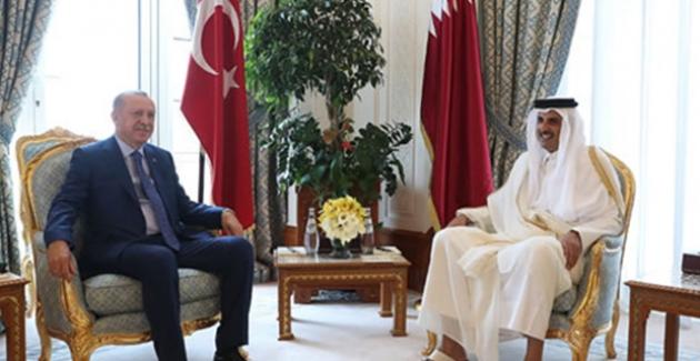 Cumhurbaşkanı Erdoğan, Katar Emiri Şeyh Temim İle Telefonda Görüştü
