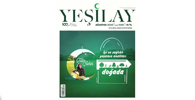 Ünlü Sunucu Ve Manken Tülin Şahin, Yeşilay Dergisi'nin Kapağında Yer Aldı