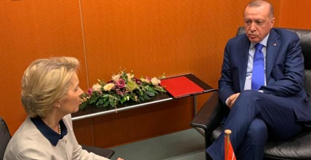 Cumhurbaşkanı Erdoğan, AB Komisyonu Başkanı Leyen İle Görüştü