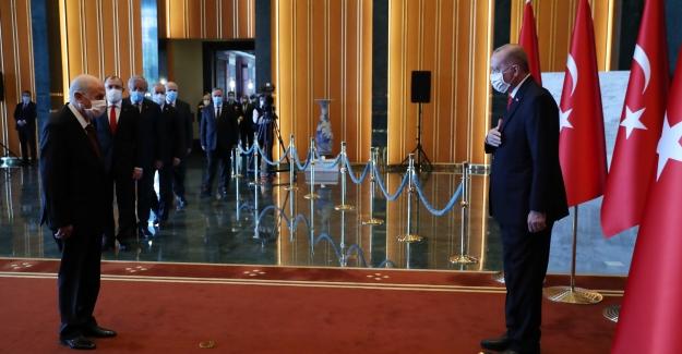 Cumhurbaşkanı Erdoğan, 29 Ekim Cumhuriyet Bayramı Tebriklerini Kabul Etti