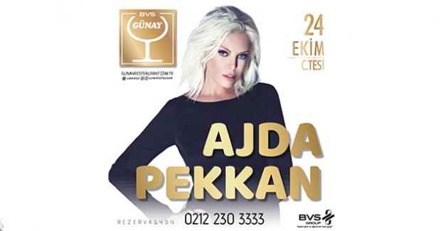 Türk Pop Müziğinin Süperstarı Ajda Pekkan Günay Restaurant'ta