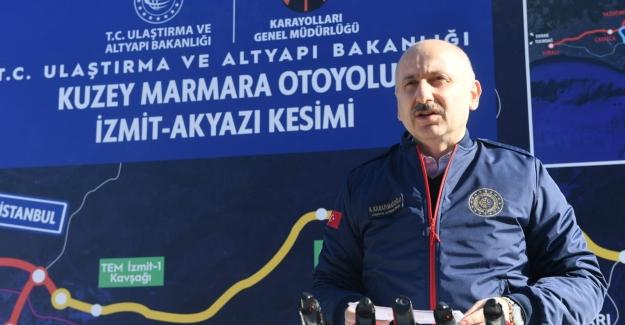 """Bakan Karaismailoğlu: """"Marmara Denizine Takılan Altın Bir Kolye Olacak"""""""