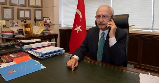 CHP Genel Başkanı Kılıçdaroğlu'ndan, Gelecek Partisi Genel Başkanı Davutoğlu'na Geçmiş Olsun Telefonu