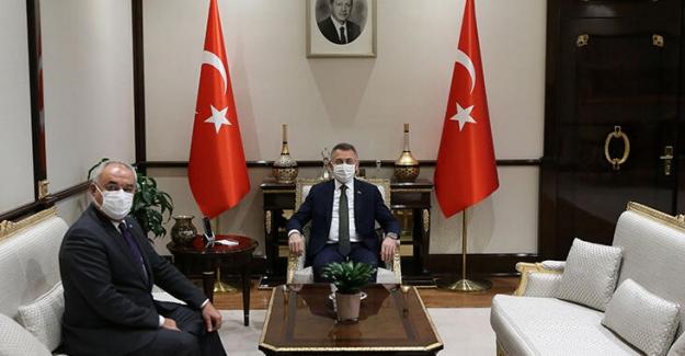 DSP Genel Başkanı Aksakal'dan, Cumhurbaşkanı Yardımcısı Oktay'a Ziyaret