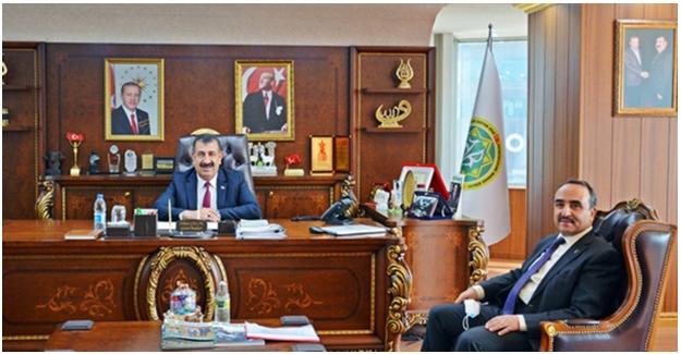 Bakan Yardımcısı Özkaldı, TÜDKİYEB Genel Başkanı Çelik'i Ziyaret Etti