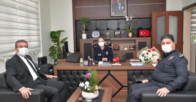 Başkan Soner Çetin'den Çukurova İlçe Emniyet Müdürü Özlem Şeker'e Ziyaret