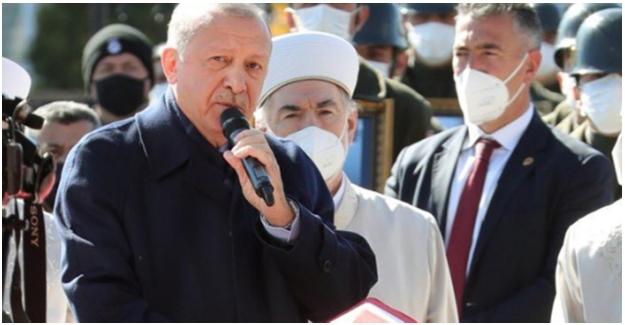 Cumhurbaşkanı Erdoğan, Helikopter Kazasında Şehit Olan Askerler İçin Düzenlenen Cenaze Törenine Katıldı