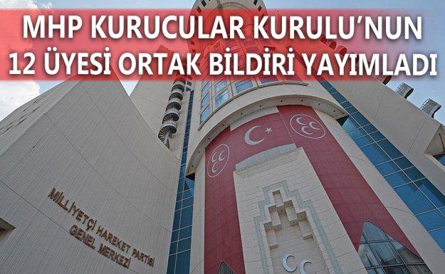 MHP Kurucular Kurulu'nun 12 Üyesinden Ortak Bildiri