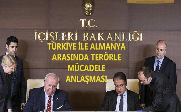 Türkiye İle Almanya Arasında Terörle Mücadele Anlaşması