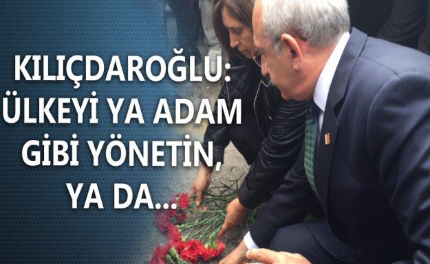 Kılıçdaroğlu Merasim'e Karanfil Bıraktı