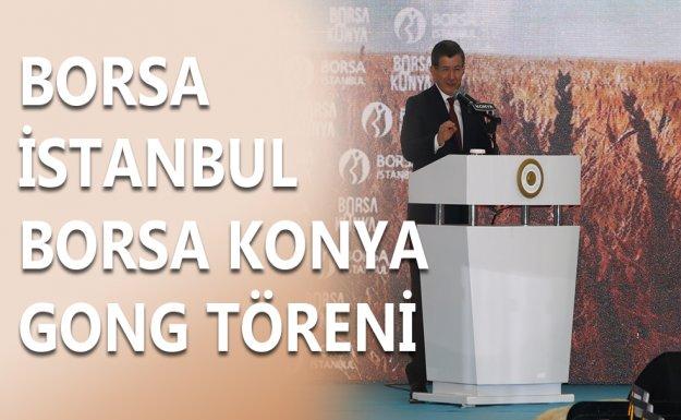 Davutoğlu Borsa İstanbul-Borsa Konya Gong Töreninde
