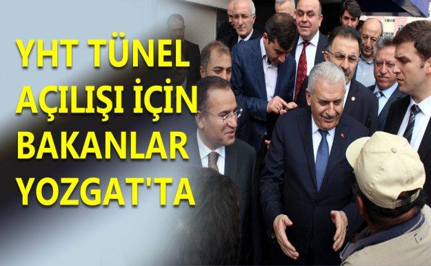 YHT Tünel Açılışı İçin Bakanlar Yozgat'ta