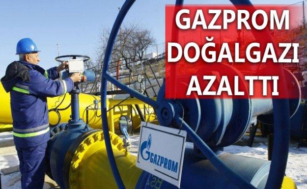 Gazprom Gaz Sevkiyatını Azalttı