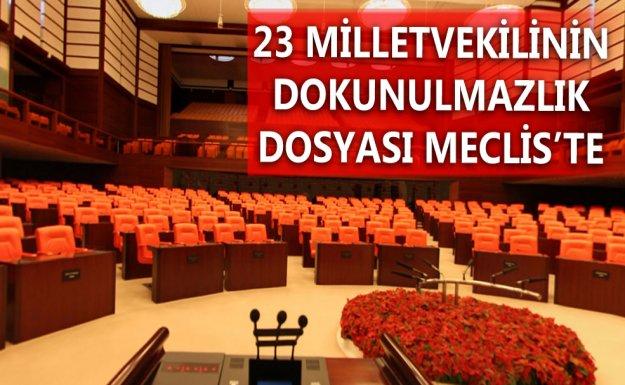 23 Milletvekiline Ait Dokunulmazlık Dosyası Meclis'e Gönderildi