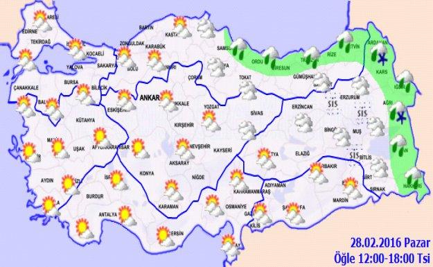 Hava Sıcaklığı Doğuda Azalacak