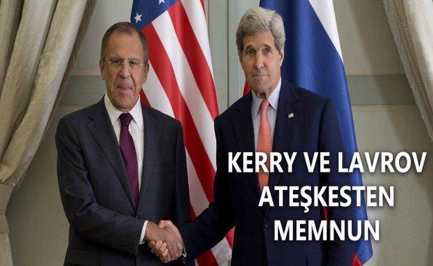 Kerry ve Lavrov Ateşkesten Memnun