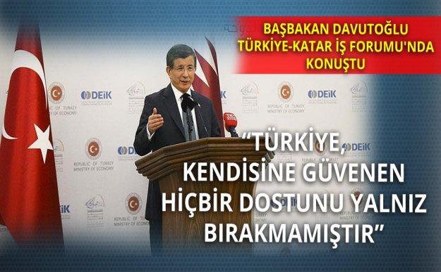 Başbakan Davutoğlu Türkiye-Katar İş Forumu'nda Konuştu