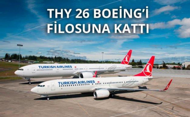 THY 26 Boeing Uçağını Filosuna Kattı