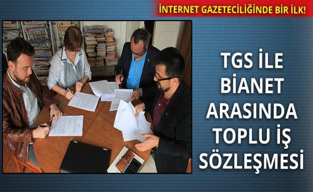 Bianet ve TGS Toplu İş Sözleşmesi İmzaladı