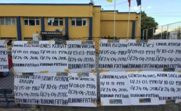 Ankaragücü Taraftarından Futbolculara Mezar Taşı