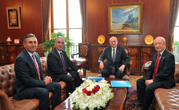 DSP'den Meclis Başkanı İsmail Kahraman'a Ziyaret