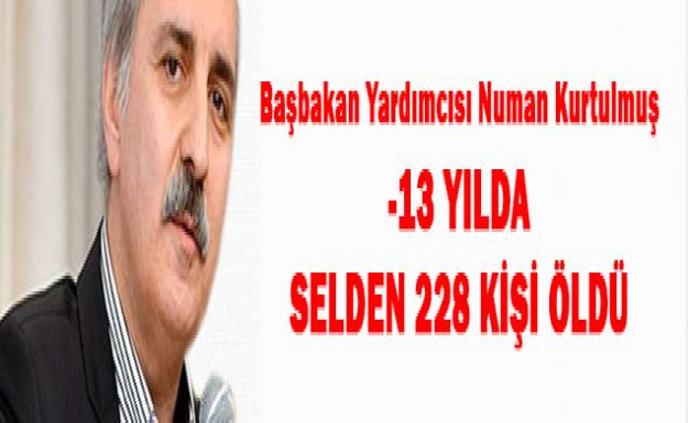 -13 YILDA SELDEN 228 KİŞİ ÖLDÜ