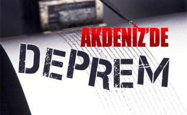 -AKDENİZ'DE 4,4 BÜYÜKLÜĞÜNDE DEPREM MEYDANA GELDİ