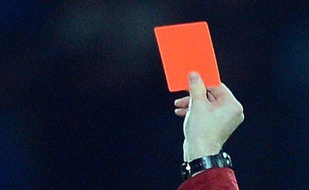 Amatör maçta 15 kırmızı kart