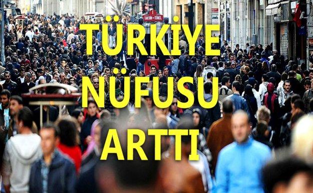 Türkiye Nüfusu 1 Milyon 45 Bin Arttı