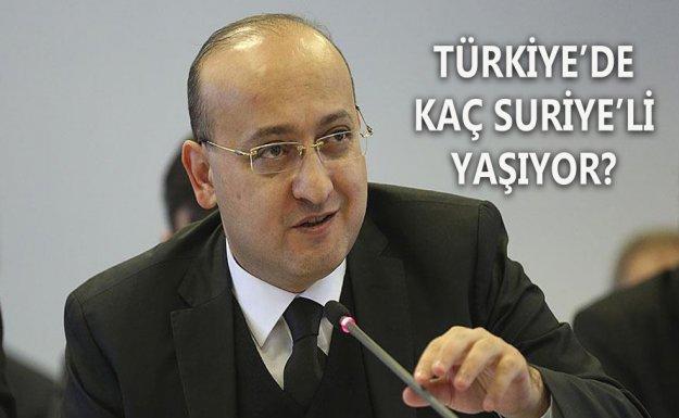 Başbakan Yardımcısı Akdoğan : Türkiye'de 2 Milyon 541 Bin Suriyeli Yaşıyor
