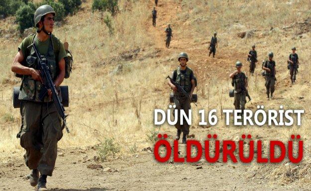 Cizre ve Sur'da 16 Terörist Öldürüldü