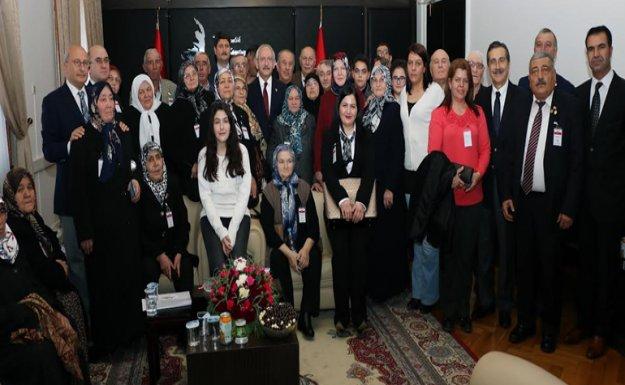 Kılıçdaroğlu Şehit Aileleriyle Görüştü