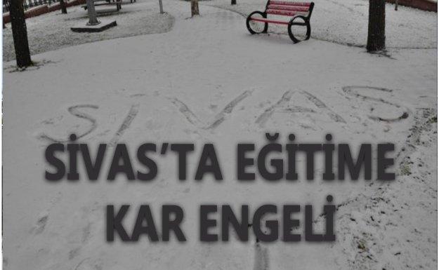 Sivas'ın Bazı İlçelerinde Eğitime Kar Engeli
