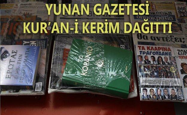 Yunanistan'ın Önde Gelen Gazetesi Kur'an-ı Kerim Dağıttı