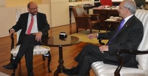 CHP Lideri Kılıçdaroğlu AP Başkanı Schulz İle Görüştü