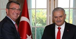 Başbakan Yıldırım ABD Savunma Bakanı Carter'ı Kabul Etti