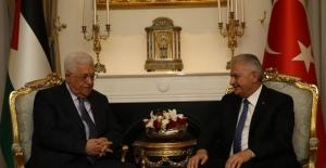 Başbakan Yıldırım Filistin Devlet Başkanı Mahmud Abbas İle Görüştü
