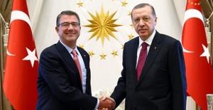 Cumhurbaşkanı Erdoğan, ABD Savunma Bakanı Carter'ı kabul etti