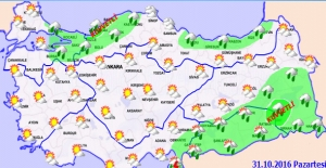 Hava sıcaklığı, Ülke Genelinde 2 İla 5 Derece Azalacak