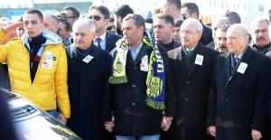 Başbakan Yıldırım, Kılıçdaroğlu ve Bahçeli Şehit Cenazesine Katıldı