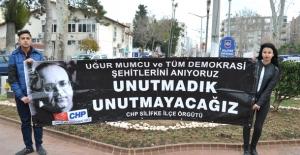 Silifke CHP İlçe Örgütü Uğur Mumcu'yu Andı