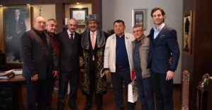 Başkan Çetin Kazakistan Heyetini Ağırladı